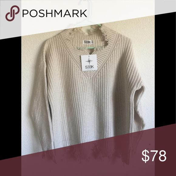 75c27479ddc LF cream oversized distressed turtleneck sweater NWT LF Sweaters ...