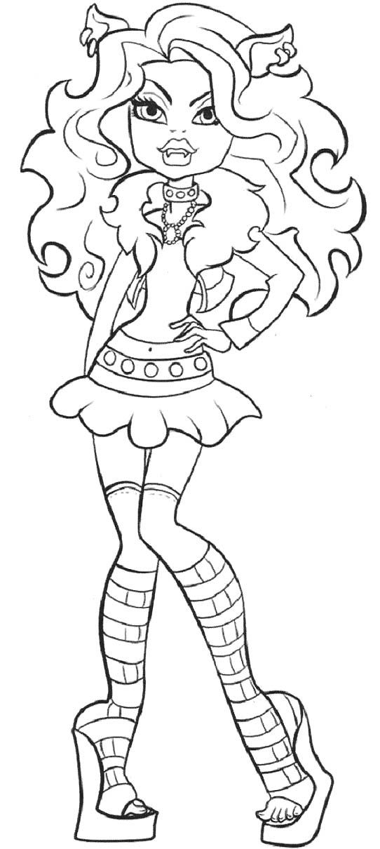 Pictures Clawdeen Wolf Monster High Coloring Pages | Color pages ...