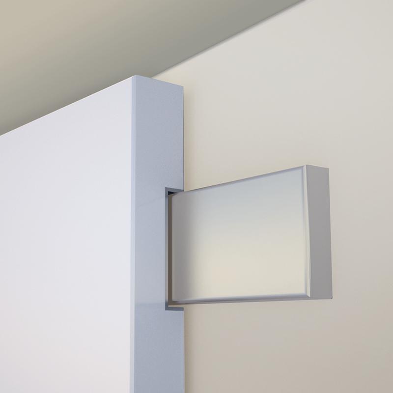 Detalle de gu a integrada en puerta corredera exterior - Guias para puerta corredera ...