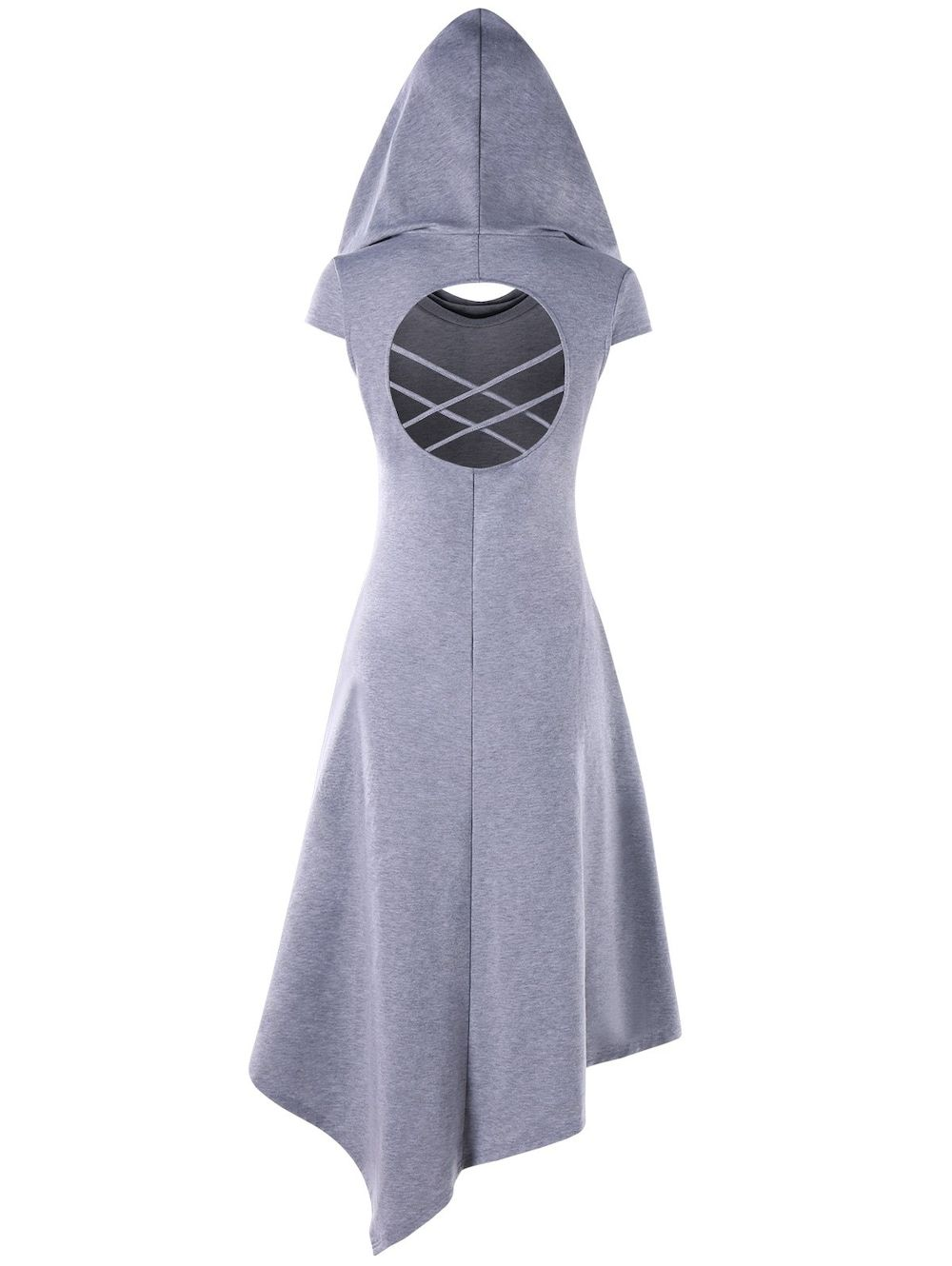 Hooded Criss Cross Cut Out Handkerchief Dress | Fashion | Pinterest ...