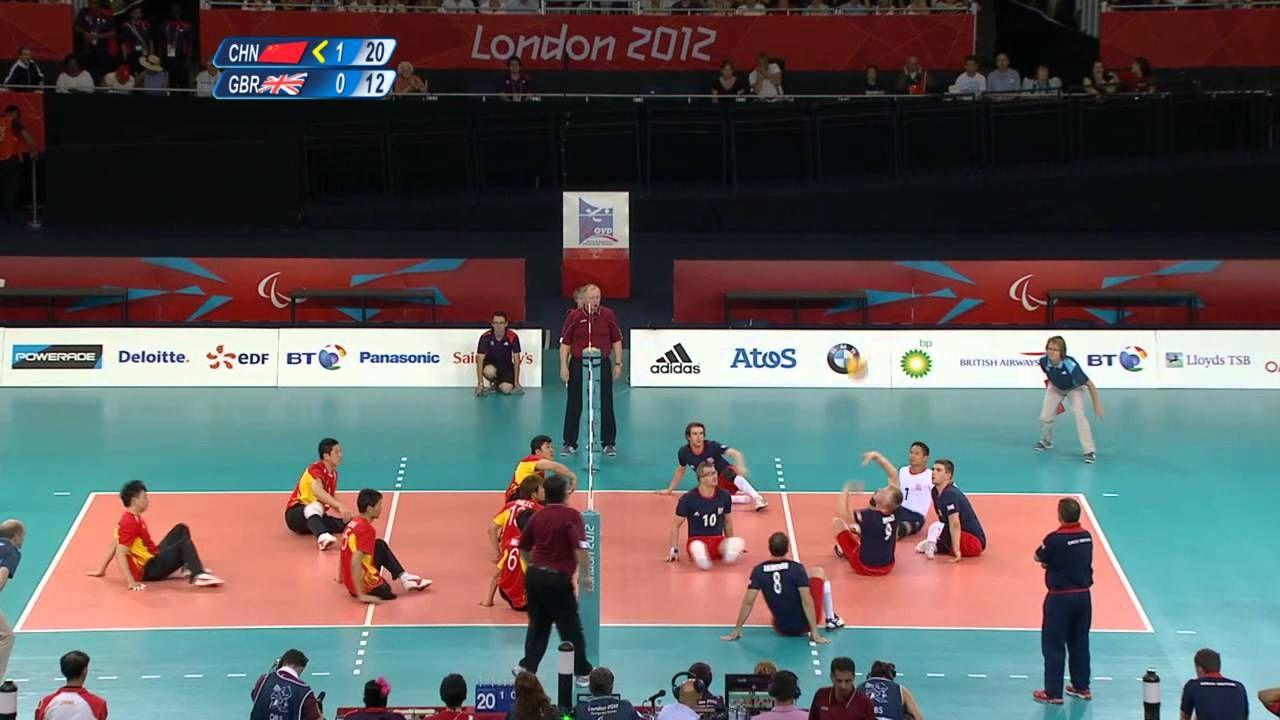 Sitting Volleyball Men China V Great Britain London 2012 Paralympic Games Paralympic Games Volleyball Paralympic Athletes
