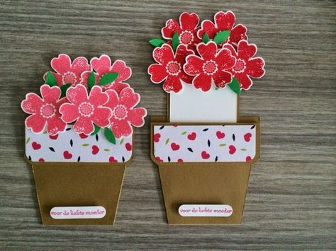 Открытка своими руками горшок с цветами