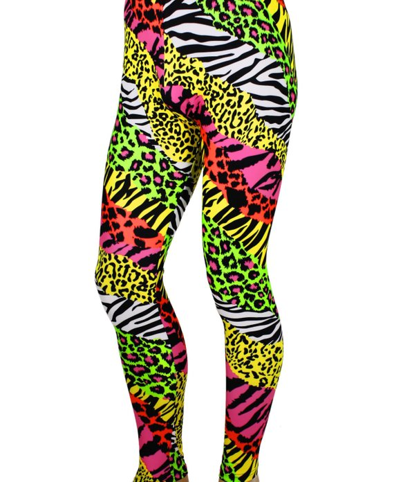 2981c7352b0943 Men's 80's Heavy Hair Metal Glam Rock BonJovi Neon Spandex Stretch Pants  Leggings