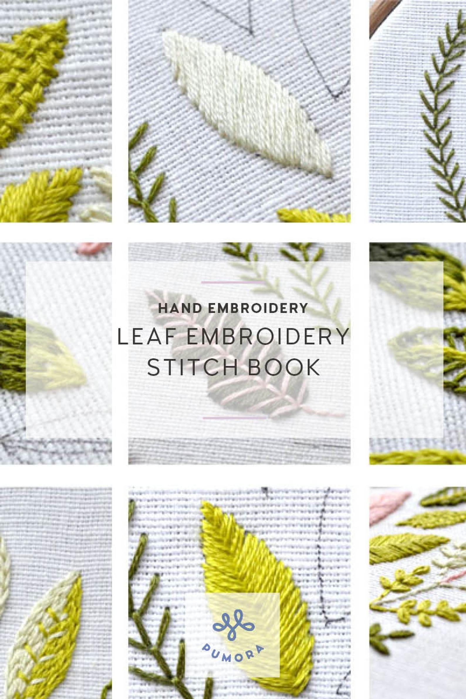 Leaf Stitch Tutorial : stitch, tutorial, Modern, Embroidery, Pattern, Botanical, Stitching, Stitch, Book,, Learn
