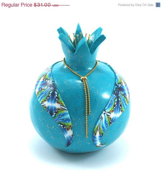 HOLIDAYS SALE Home decor pomegranate prosperity by ShuliDesigns, $26.35
