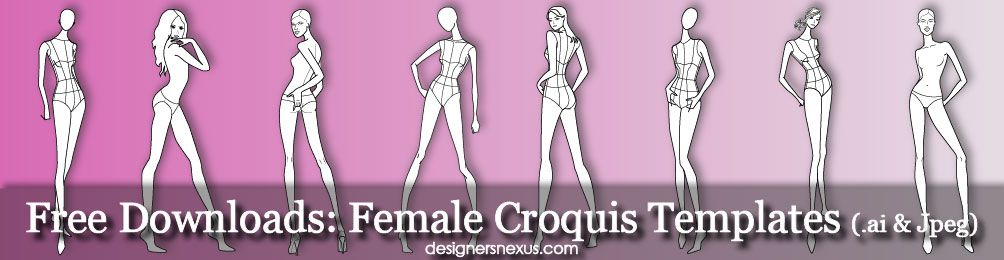 Free Downloads Female Croquis Templates Free Downloads In Illustrator Or High Quality Bitmap Format At Www Designersnexus Com Croquis Fashiontempl Com Imagens Imagems
