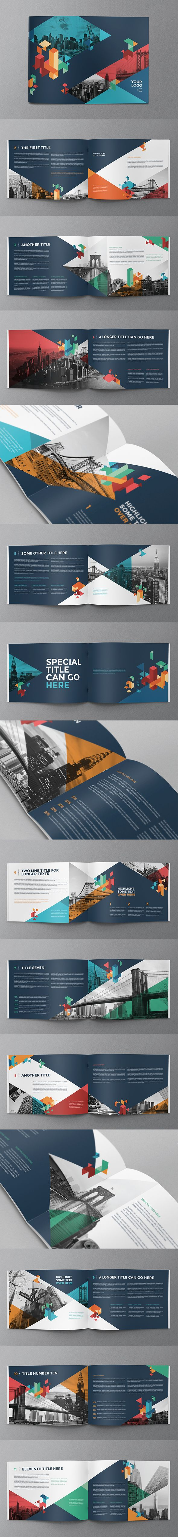 Colorful Blue Brochure. Download here: http://graphicriver.net/item/colorful-blue-brochure/10801871?ref=abradesign #brochure #design