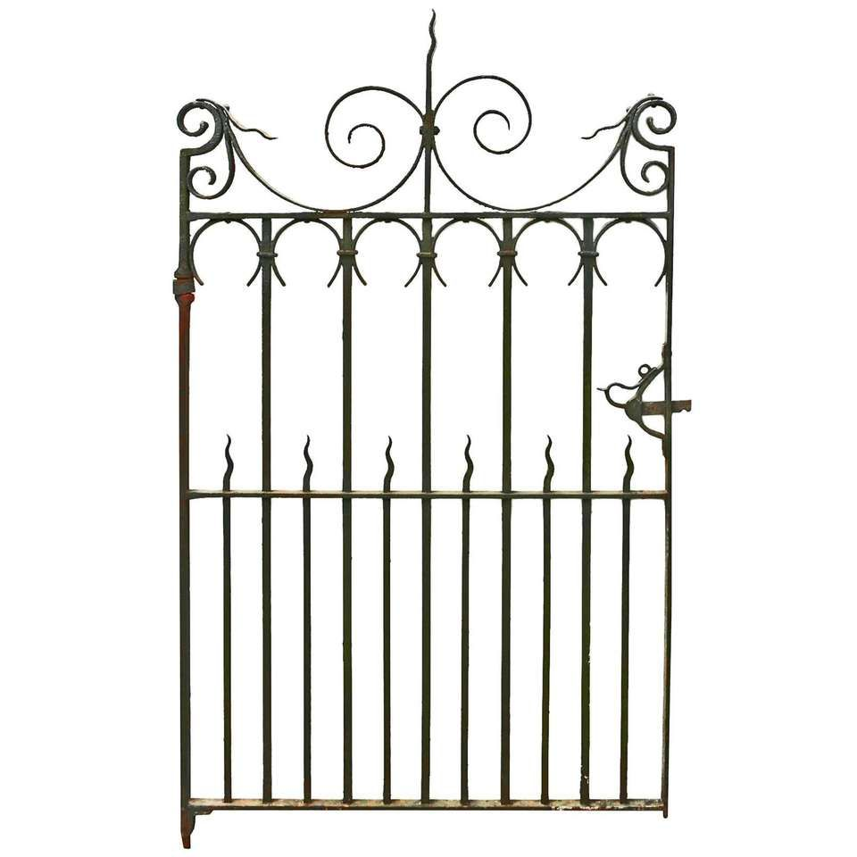 Antique Wrought Iron Pedestrian Gate Circa 1900 Screens Gates
