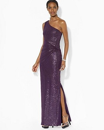 Lauren Ralph Lauren Gown - Sequin Mesh | Bloomingdale's