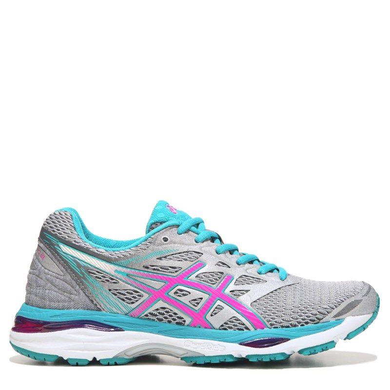 Asics Women S Gel Cumulus 18 Running Shoes Silver Pink 6 Running Shoes Asics Running Shoes Shoes Heels Pumps