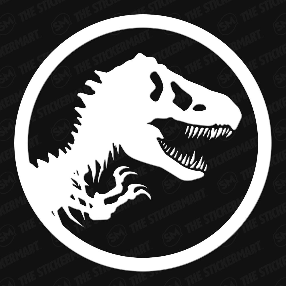 Jurassic Park Emblem Vinyl Decal   Jurassic park, Dinosaur ...