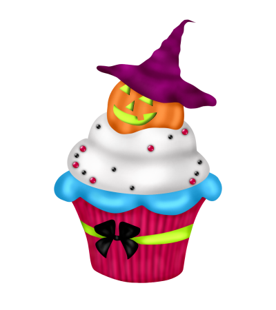 Cake Art Halloween Birthday Clip