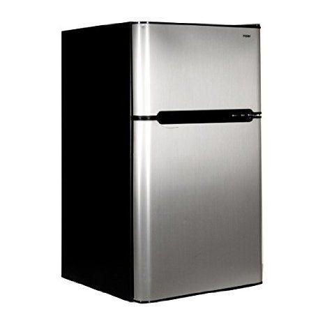 Haier HNDE03VS 3.3-Cubic Foot 2 Door Refrigerator/Freezer, Black ...