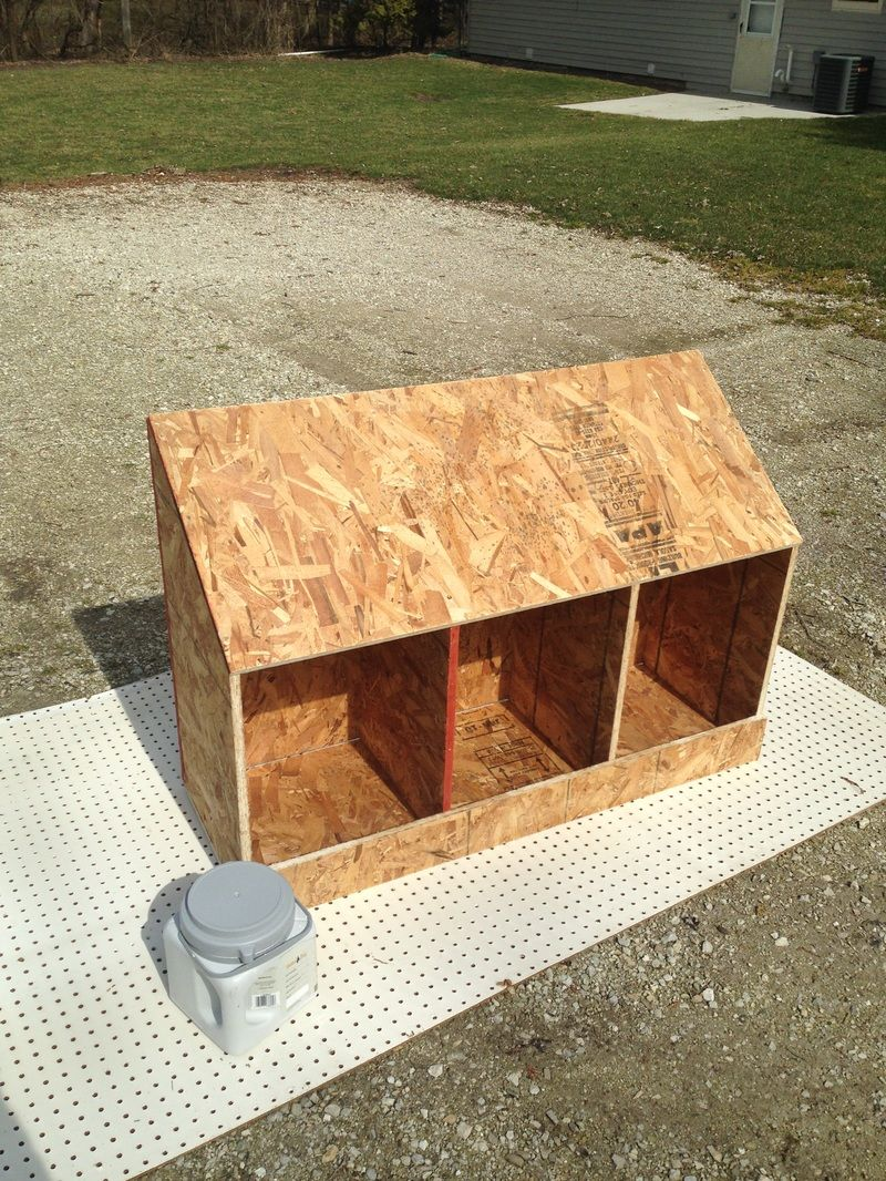 How to build nesting boxes out of one piece of plywood | Chickens | Pinterest | Nesting boxes ...