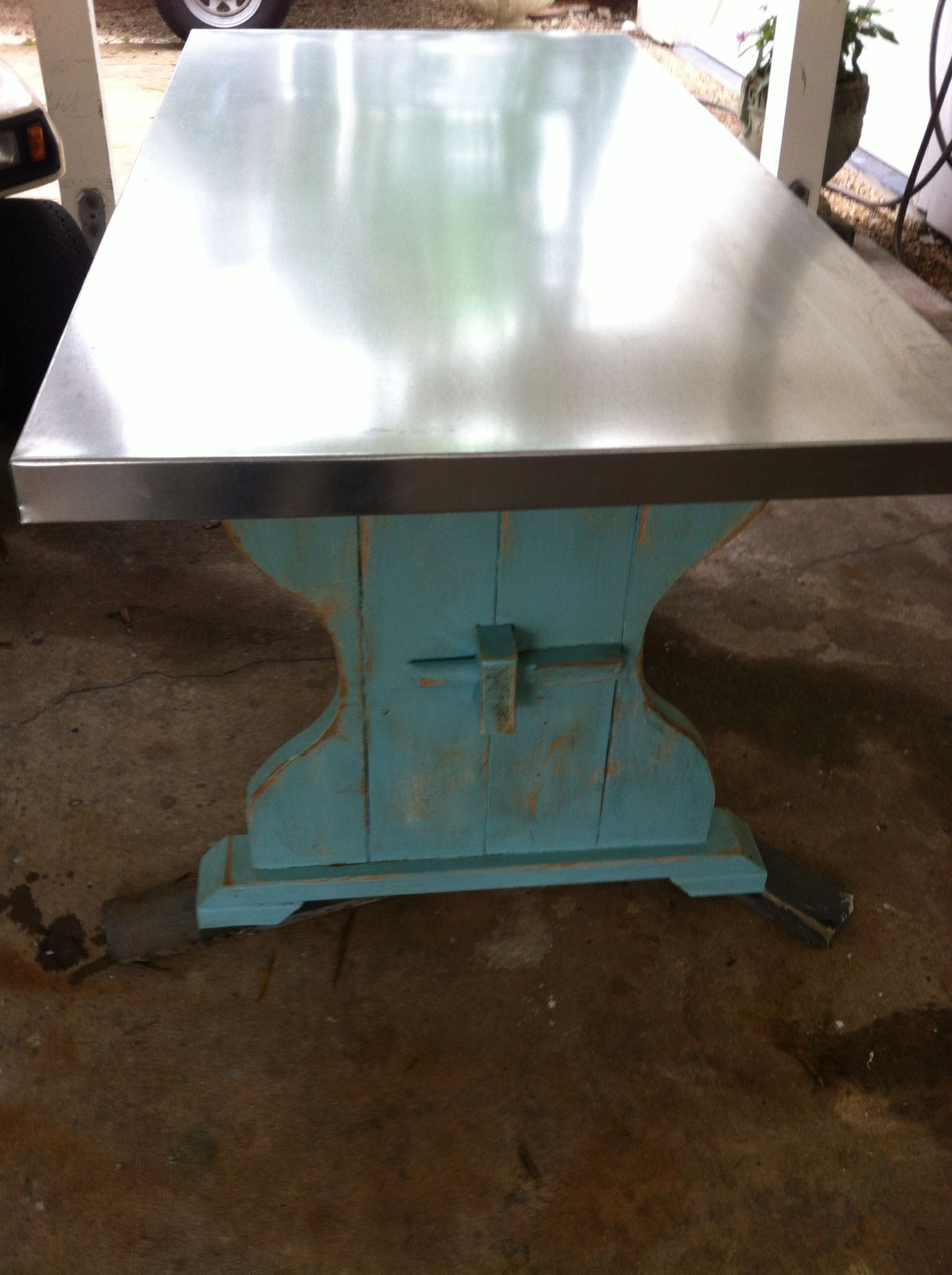 Galvanized Top Table Made By Wilaminau0027s Designs