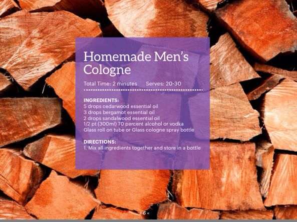 DIY Mens Cologne