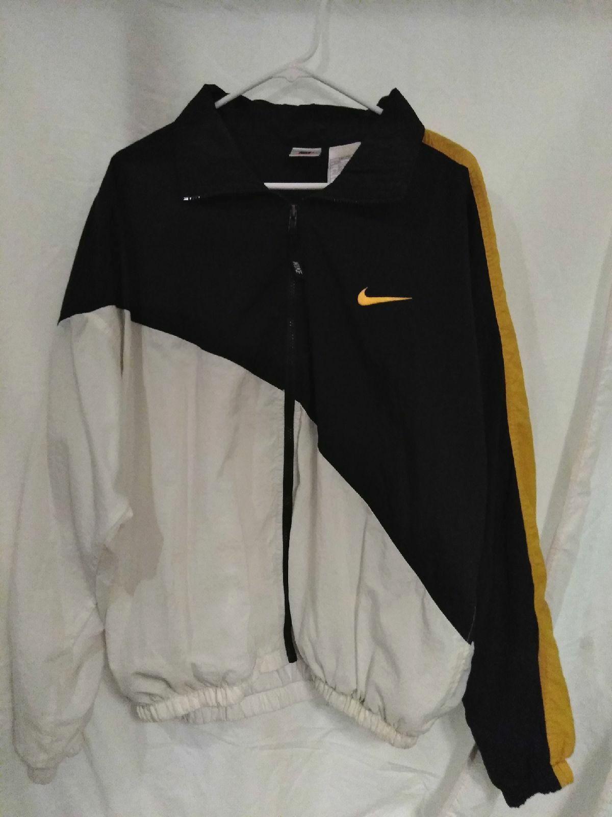 Vintage Nike Windbreaker Jacket Size Large White Black And Gold With The Small Nik Vintage Windbreaker Jacket Nike Windbreaker Outfit Vintage Nike Windbreaker [ 1600 x 1200 Pixel ]