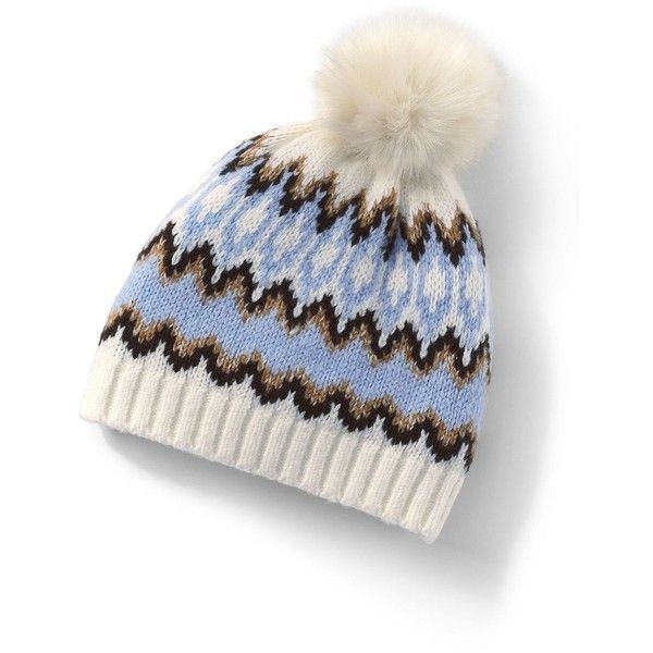 Lands  End Women s Winter Fair Isle Hat ( 34) ❤ liked on Polyvore featuring  accessories 972ebf7d2fd1