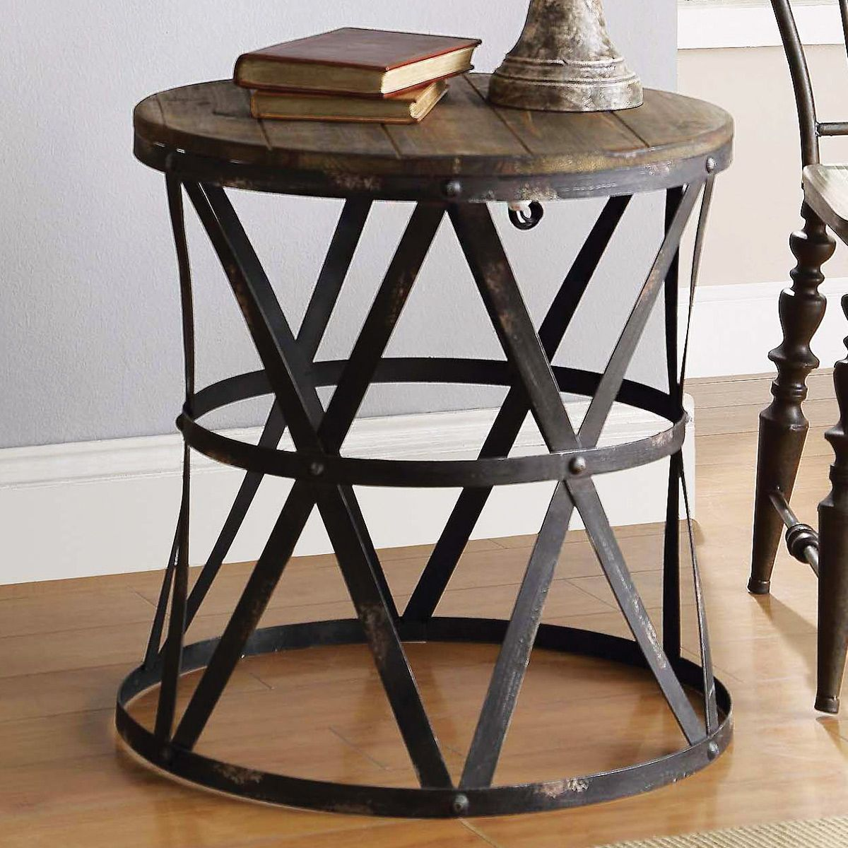 rustic end tables rustic side table