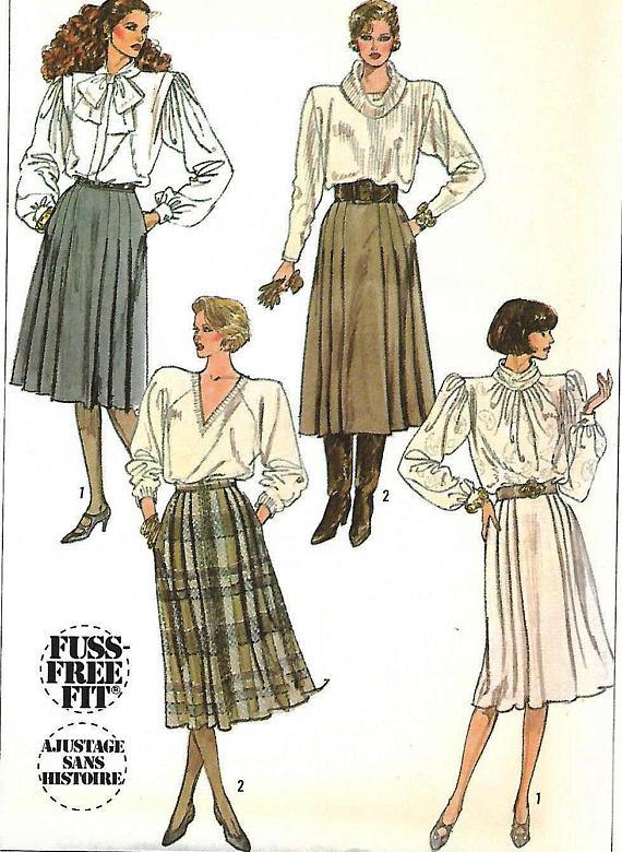 Pleated Skirt, Simplicity 7814, UNCUT Factory Fold, Fuss Free ...