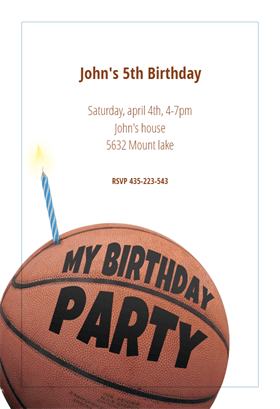 basketball free printable birthday invitation template greetings