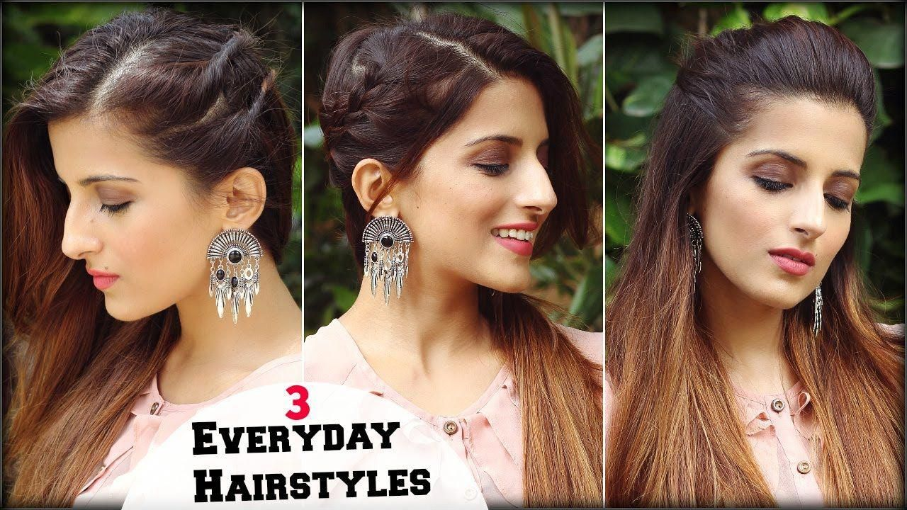 1 Min CUTE & EASY Everyday Simple Hairstyles For School, College, Work/ ... # ...