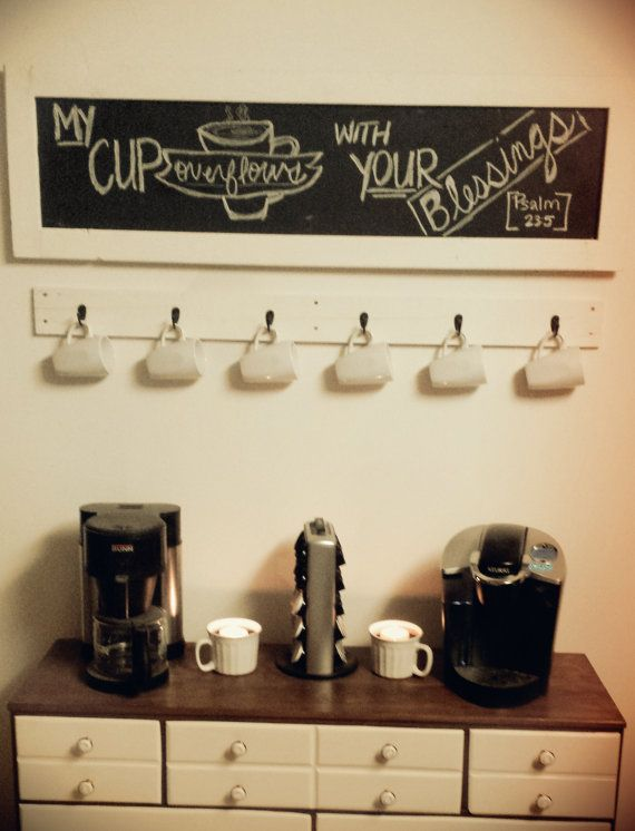 Wall Mount Coffee Cup / Coffee Mug Holder by LumberandLittles - Wall Mount Coffee Cup / Coffee Mug Holder By LumberandLittles
