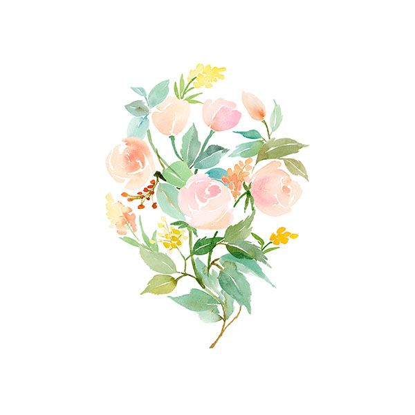 Throw Pillows Society6 Watercolor Art Prints Watercolor Flowers Floral Watercolor