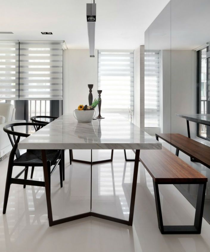 5 Modern Marble Dining Tables You Will Covet Minimalist Dining Room Dining Table Marble Apartment Dining