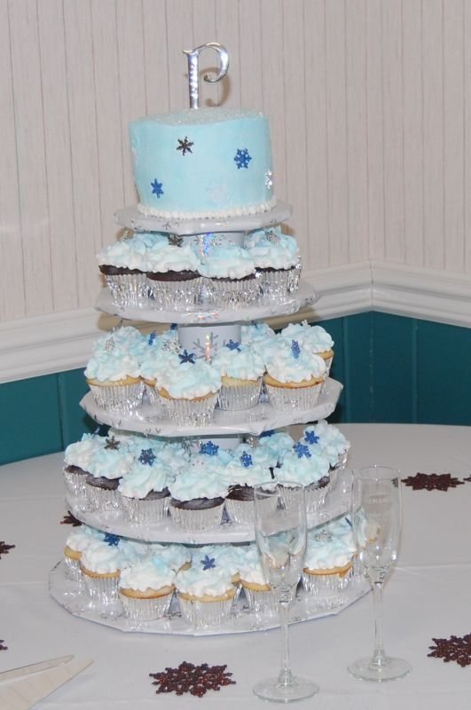 winter wonderland cupcake towers google search winter