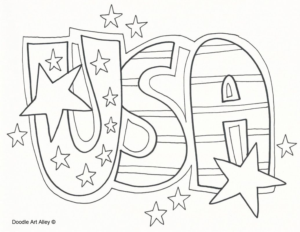 Usa Coloring Pages With Images Memorial Day Coloring Pages