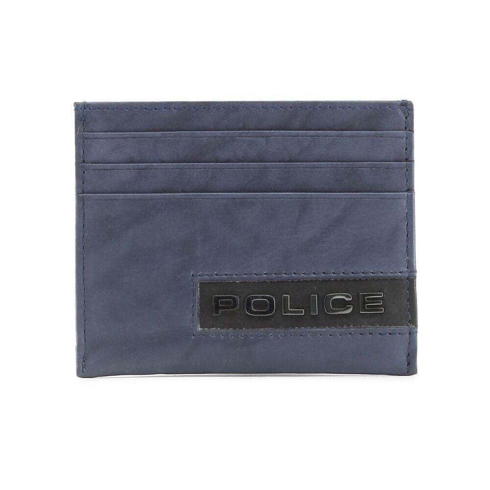 17226fd7 Police Men's Blue Leather Credit Card Holder Wallet Handy #fashion ...