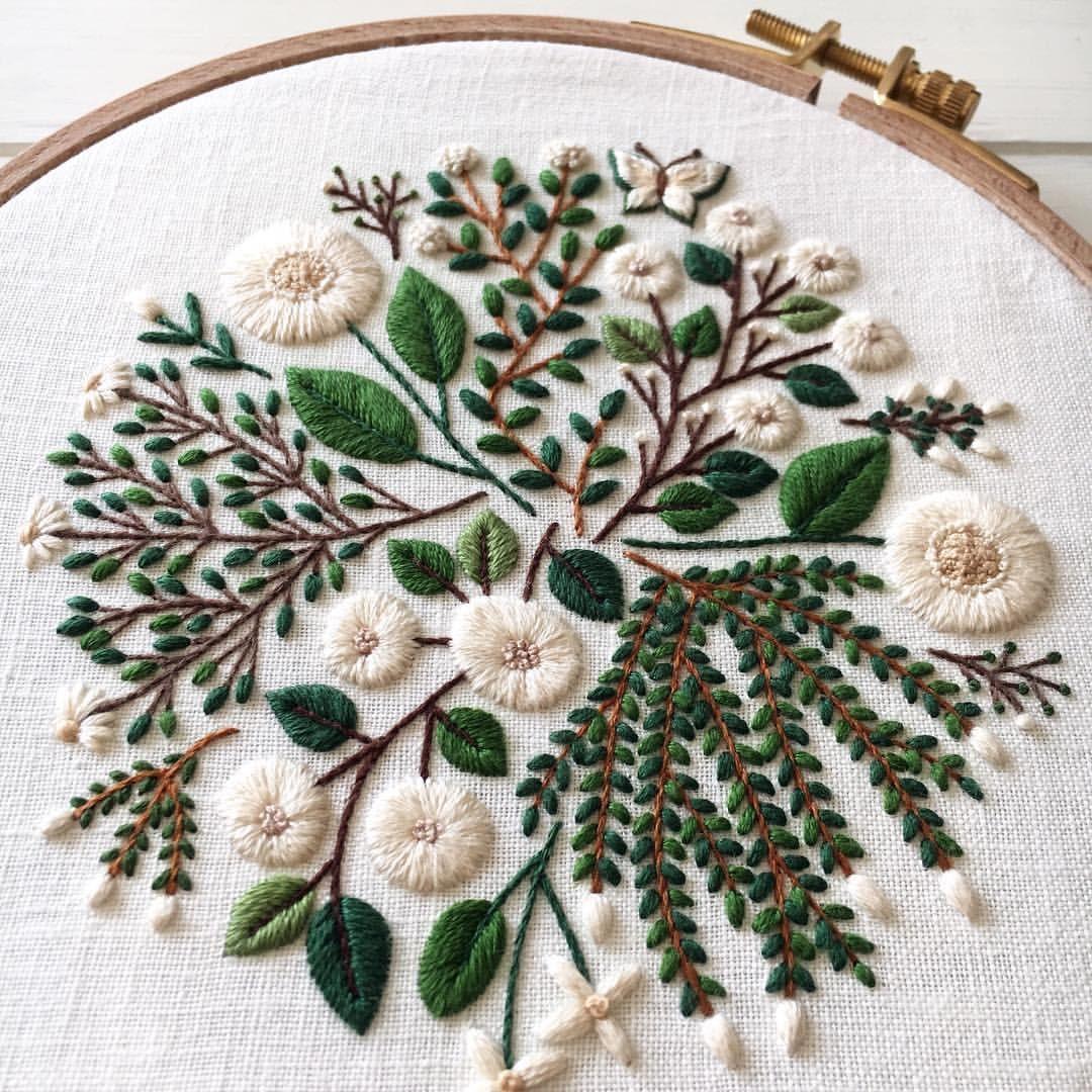 Pin de Jill Maughan en DIY & Crafts | Pinterest | Bordado, Bordados ...