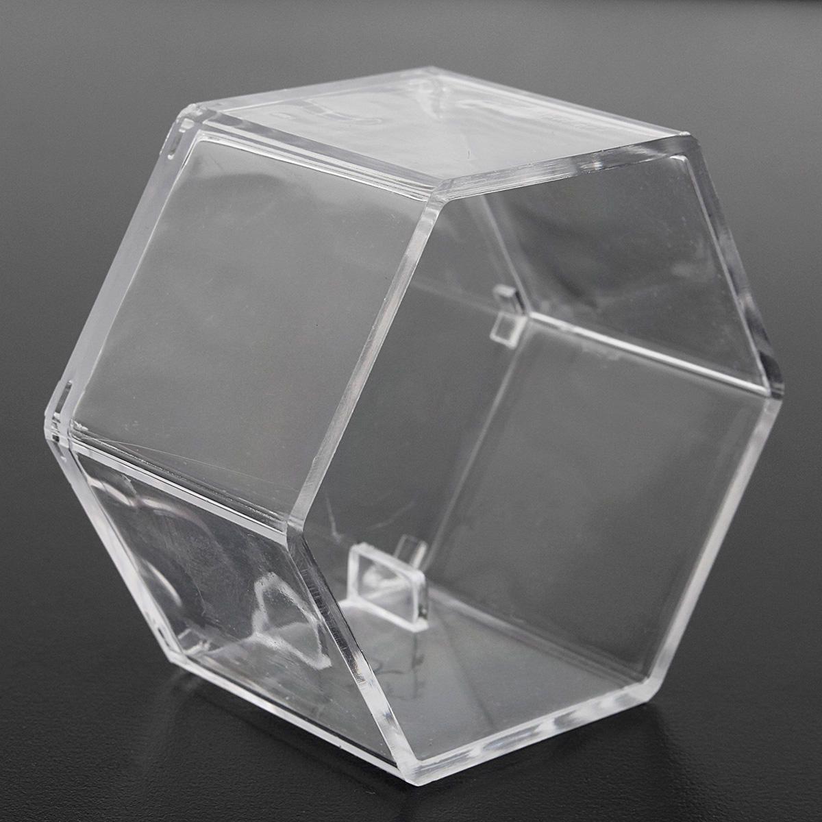 Six Angle Honeycomb Transparent Acrylic Display Box Case Dustproof ...