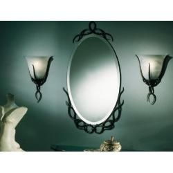 Photo of Robers Leuchten wall lamp Molina solid hand-forged black, patina Wl3389 old black without one