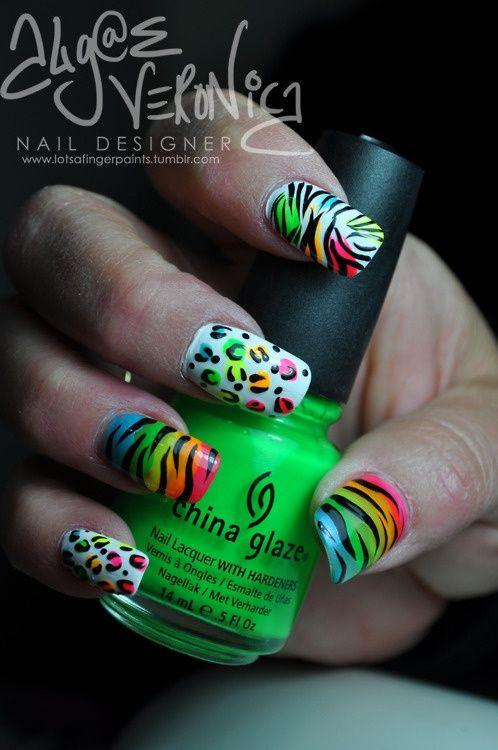 Zebra Print Nails | Fashion | Pinterest | Diseños de uñas, Uñas ...