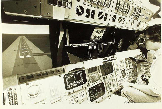 space shuttle cockpit simulator #1970s #retro