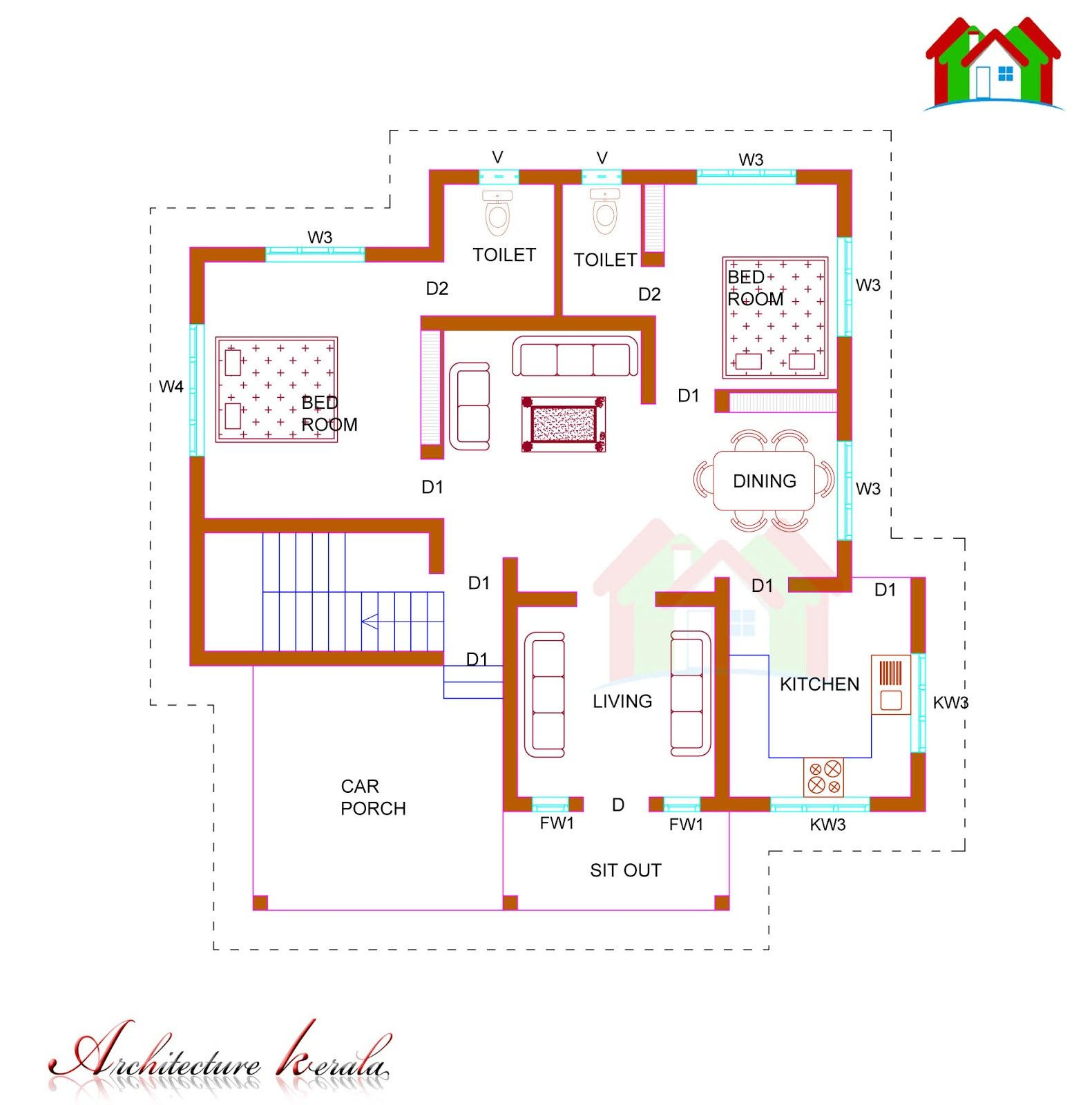 1200 Sq Ft House Plans 3 Bedroom Elegant 1000 Square Feet House Plan Kerala Model Homes Zone House Plans With Photos 1200 Sq Ft House House Plans