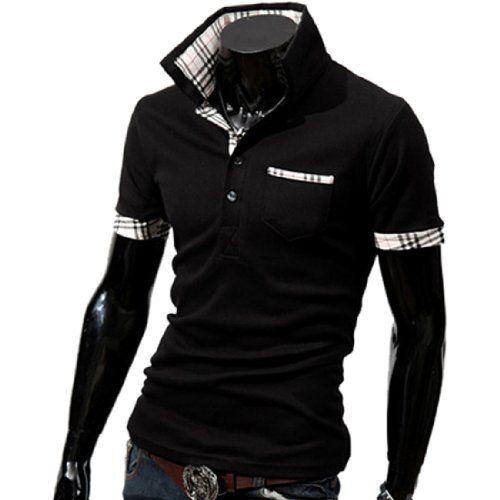 Herren Jungen Kurzarm Business Hemd Slim Fit Poloshirt Short Sleeve  Freizeithemd Fashion Season http   2eb9c9eaba