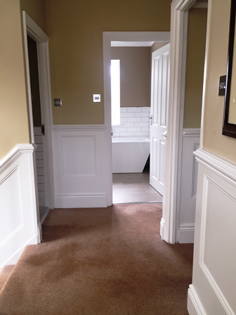 Hallway And Landing Ideas Mdf Wall Panelling By Wall Panelling Experts Mdf Wall Panels Wall Paneling Stair Walls