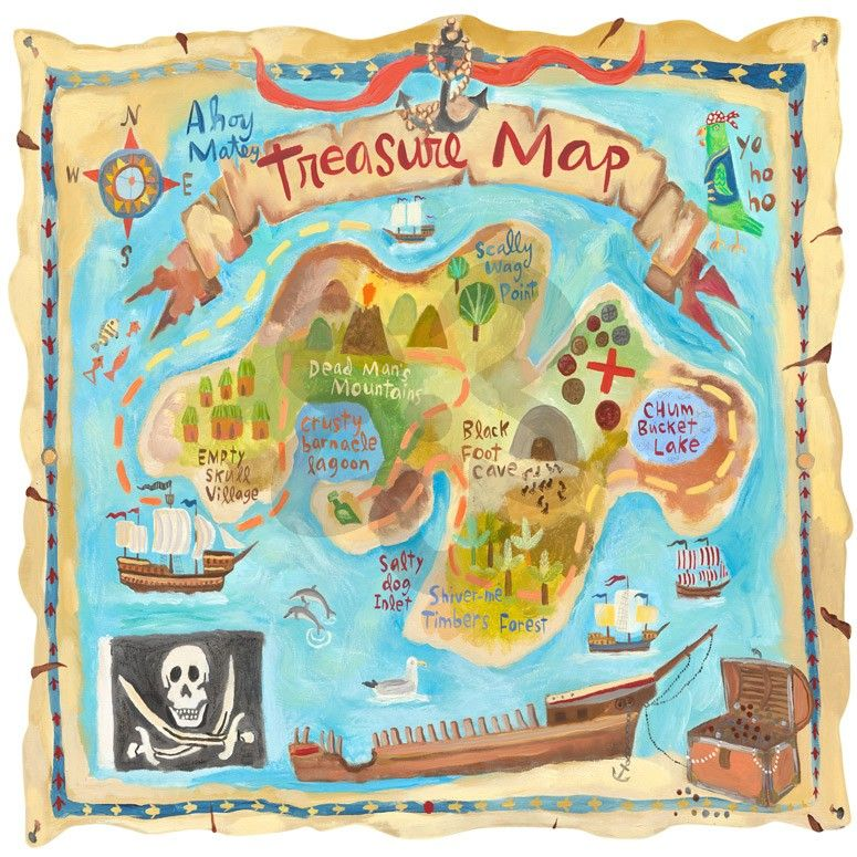 Treasure Map, Personalized Murals That Stick | Oopsy daisy | Ideas ...