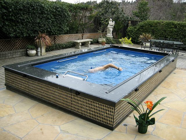 This Backyard Lap Pool From Fastlane Pools Gives A Touch Of Style