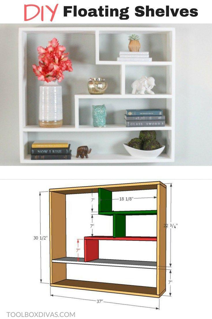 Diy Floating Shelf Bookshelf Bookcases With Changeable Backing