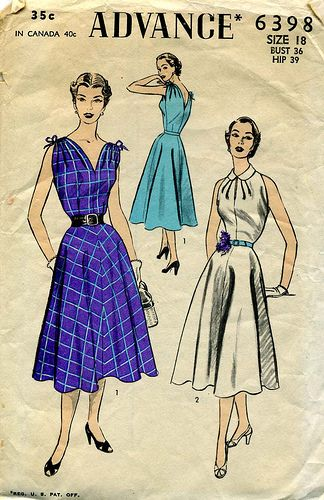 1000  images about vintage dress patterns on Pinterest  Sewing ...