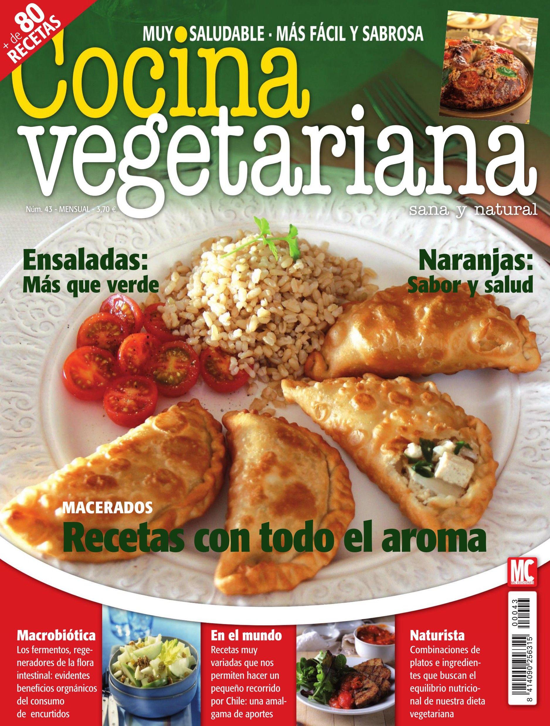 Revista Cocina Vegetariana 43 Recetas Con Todo El Aroma