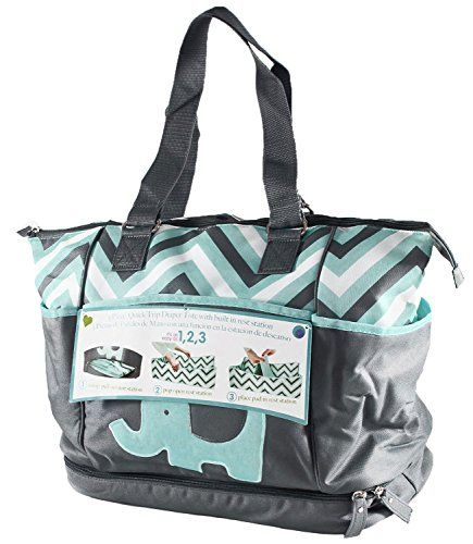 c861a67ebce9d A diaper bag or nappy bag is a storage bag with many pocket-like spaces  that is big enough to carry everything needed by someone taking care of a  baby while ...