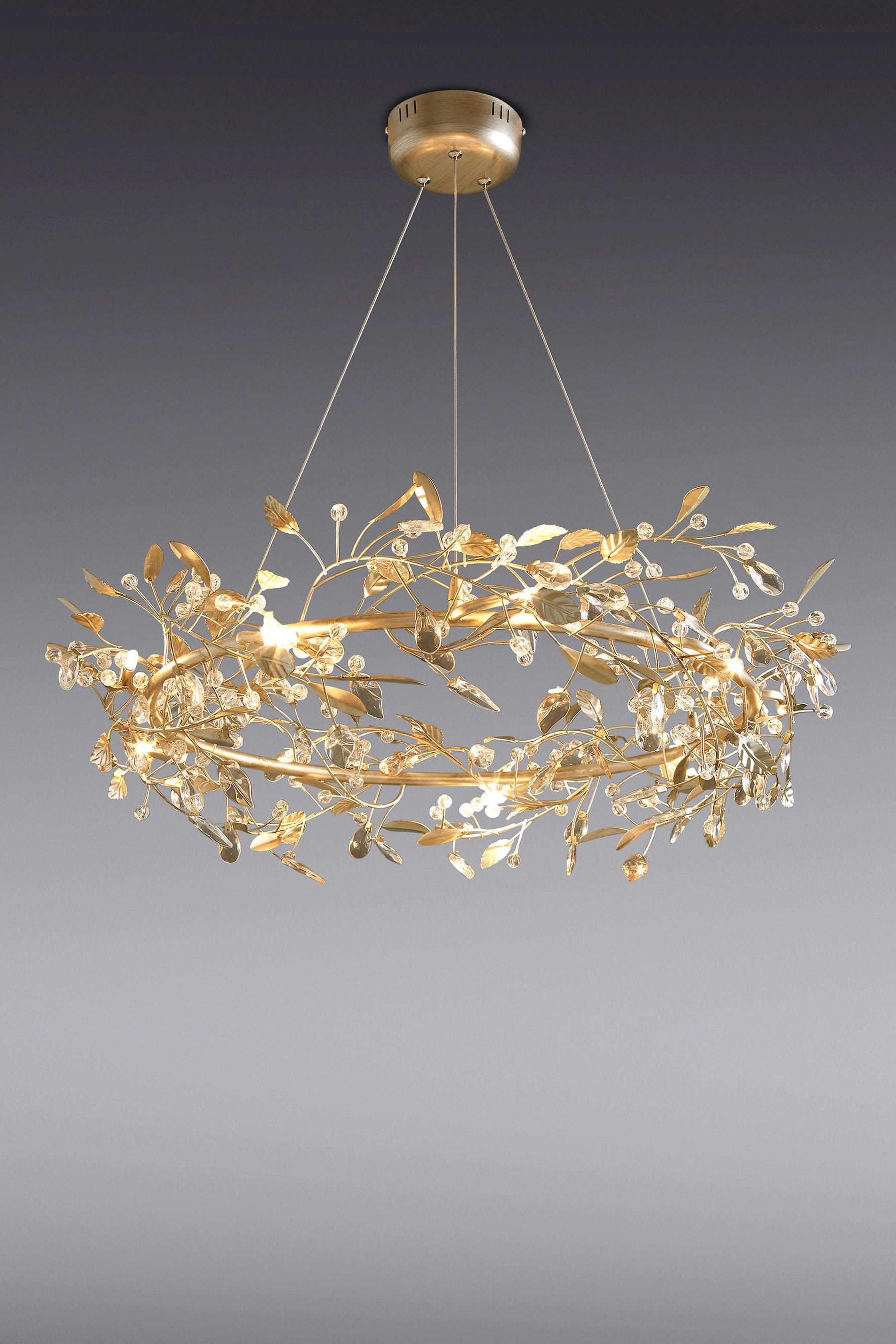 Blossom 9 Light Gold Finish Chandelier From The Next Uk