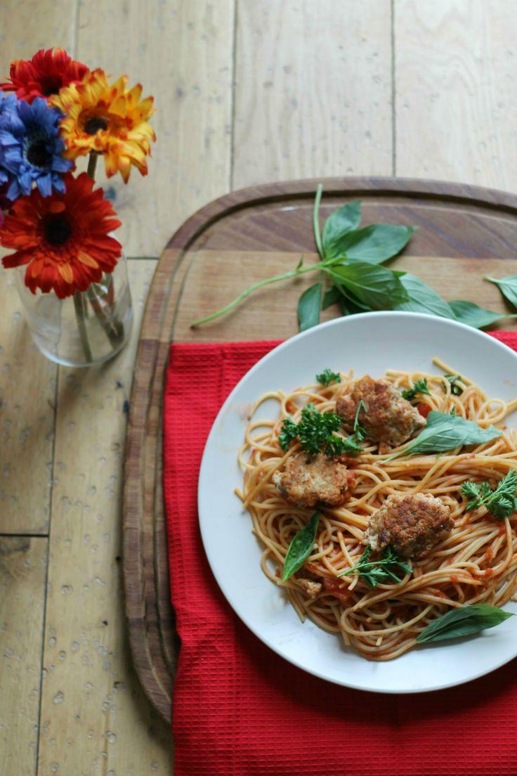 Easy turkey meatballs recipe with Spaghetti (also works ...