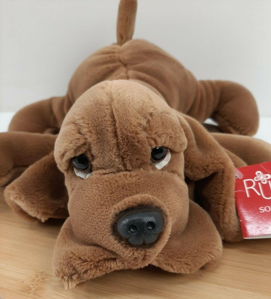Russ Berrie Snuffer Blood Hound Dog Plush Bloodhound Stuffed