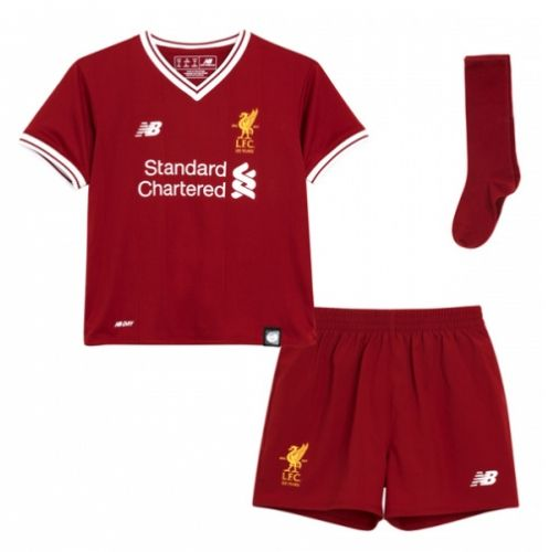 2017/18 Liverpool Home Red Kid/Youth Soccer Uniform With Socks